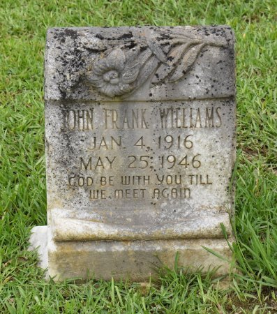 WILLIAMS, JOHN FRANK - Sabine County, Louisiana | JOHN FRANK WILLIAMS - Louisiana Gravestone Photos