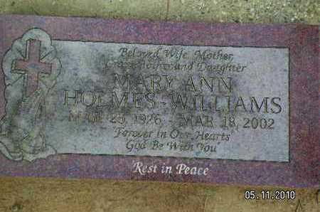 HOLMS WILLIAMS, MARY ANN - Sabine County, Louisiana   MARY ANN HOLMS WILLIAMS - Louisiana Gravestone Photos