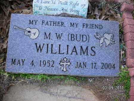 "WILLIAMS, M W ""BUD"" - Sabine County, Louisiana | M W ""BUD"" WILLIAMS - Louisiana Gravestone Photos"