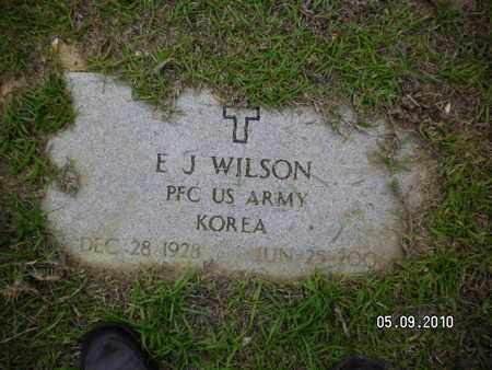WILSON, E J (VETERAN KOR) - Sabine County, Louisiana | E J (VETERAN KOR) WILSON - Louisiana Gravestone Photos