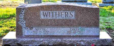 WITHERS, MATTIE - Sabine County, Louisiana | MATTIE WITHERS - Louisiana Gravestone Photos