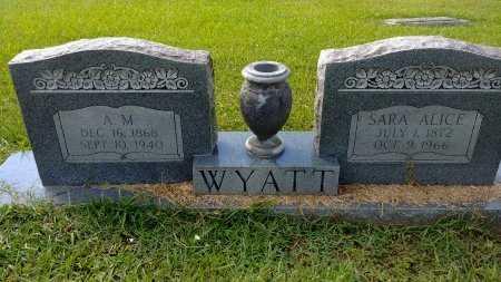 WYATT, ALEXANDER MCCLEOD - Sabine County, Louisiana | ALEXANDER MCCLEOD WYATT - Louisiana Gravestone Photos