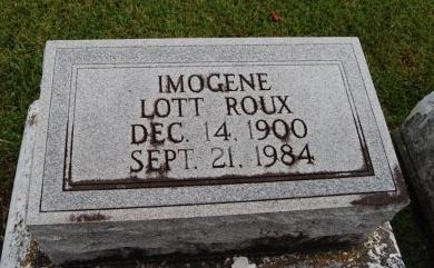 ROUX, IMOGENE - St. Charles County, Louisiana | IMOGENE ROUX - Louisiana Gravestone Photos