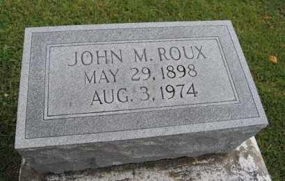 ROUX, JOHN M - St. Charles County, Louisiana | JOHN M ROUX - Louisiana Gravestone Photos