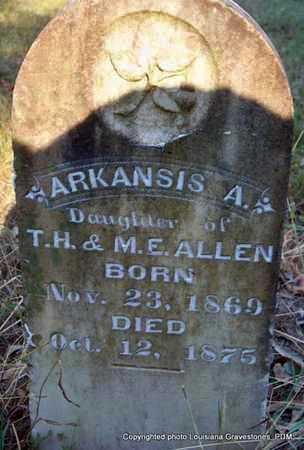 ALLEN, ARKANSIS A - St. Helena County, Louisiana   ARKANSIS A ALLEN - Louisiana Gravestone Photos