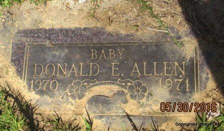 ALLEN, DONALD E - St. Helena County, Louisiana   DONALD E ALLEN - Louisiana Gravestone Photos