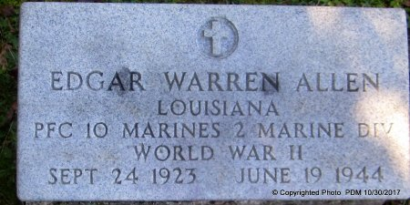 ALLEN, EDGAR WARREN  (VETERAN WWII, KIA) - St. Helena County, Louisiana | EDGAR WARREN  (VETERAN WWII, KIA) ALLEN - Louisiana Gravestone Photos