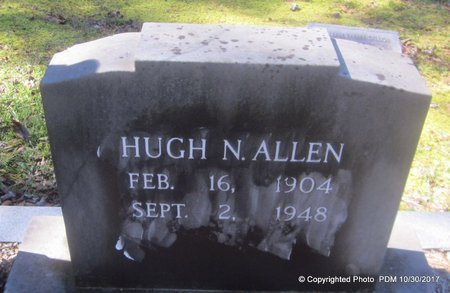 ALLEN, HUGH N - St. Helena County, Louisiana | HUGH N ALLEN - Louisiana Gravestone Photos