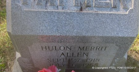 ALLEN, HULON MERRIT - St. Helena County, Louisiana | HULON MERRIT ALLEN - Louisiana Gravestone Photos