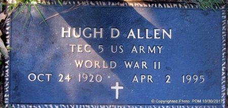 ALLEN, HUGH D  (VETERAN WWII) - St. Helena County, Louisiana | HUGH D  (VETERAN WWII) ALLEN - Louisiana Gravestone Photos