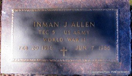 ALLEN, INMAN J  (VETERAN WWII) - St. Helena County, Louisiana   INMAN J  (VETERAN WWII) ALLEN - Louisiana Gravestone Photos