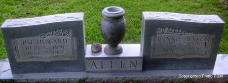 ALLEN, JIM HOWARD - St. Helena County, Louisiana | JIM HOWARD ALLEN - Louisiana Gravestone Photos