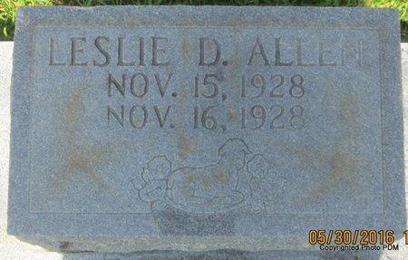 ALLEN, LESLIE D - St. Helena County, Louisiana | LESLIE D ALLEN - Louisiana Gravestone Photos