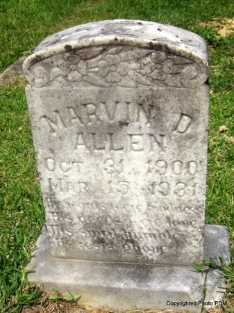 ALLEN, MARVIN D - St. Helena County, Louisiana | MARVIN D ALLEN - Louisiana Gravestone Photos