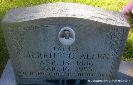 ALLEN, MERRITT G  (CLOSEUP) - St. Helena County, Louisiana   MERRITT G  (CLOSEUP) ALLEN - Louisiana Gravestone Photos
