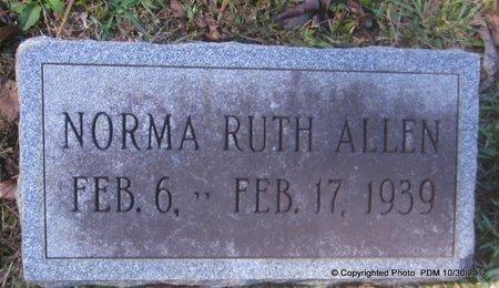 ALLEN, NORMA RUTH - St. Helena County, Louisiana | NORMA RUTH ALLEN - Louisiana Gravestone Photos