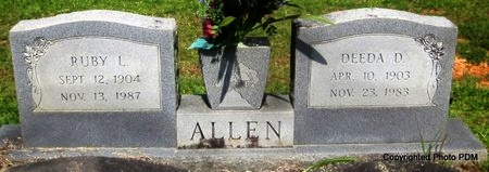 ALLEN, DEEDA D - St. Helena County, Louisiana | DEEDA D ALLEN - Louisiana Gravestone Photos