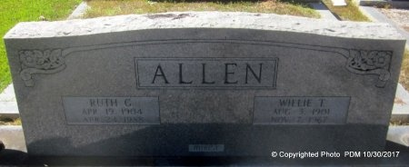 "ALLEN, WILLIAM TALMADGE ""WILLIE"" - St. Helena County, Louisiana | WILLIAM TALMADGE ""WILLIE"" ALLEN - Louisiana Gravestone Photos"