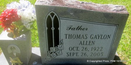 ALLEN, THOMAS GAYLON - St. Helena County, Louisiana | THOMAS GAYLON ALLEN - Louisiana Gravestone Photos
