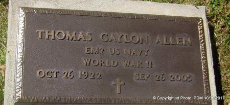 ALLEN, THOMAS GAYLON  (VETERAN WWII) - St. Helena County, Louisiana   THOMAS GAYLON  (VETERAN WWII) ALLEN - Louisiana Gravestone Photos