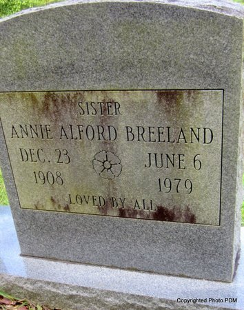 BREELAND, ANNIE - St. Helena County, Louisiana | ANNIE BREELAND - Louisiana Gravestone Photos