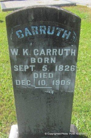 CARRUTH, WALTER K - St. Helena County, Louisiana | WALTER K CARRUTH - Louisiana Gravestone Photos