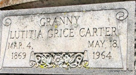 GRICE CARTER, LUTICIA - St. Helena County, Louisiana | LUTICIA GRICE CARTER - Louisiana Gravestone Photos