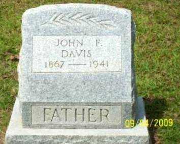 DAVIS, JOHN F - St. Helena County, Louisiana   JOHN F DAVIS - Louisiana Gravestone Photos