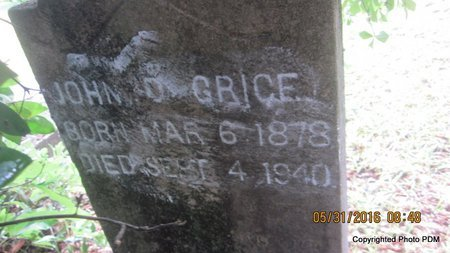 GRICE, JOHN D, JR - St. Helena County, Louisiana | JOHN D, JR GRICE - Louisiana Gravestone Photos
