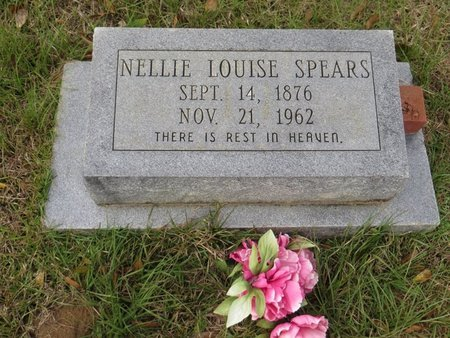SPEARS, NELLIE LOUISE - St. Helena County, Louisiana | NELLIE LOUISE SPEARS - Louisiana Gravestone Photos