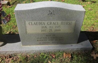 STRICKLAND, CLAUDIA GRACE  (CLOSEUP) - St. Helena County, Louisiana | CLAUDIA GRACE  (CLOSEUP) STRICKLAND - Louisiana Gravestone Photos