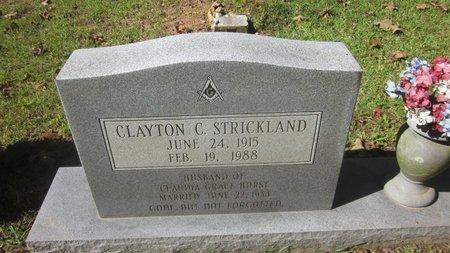 STRICKLAND, CLAYTON C  (CLOSEUP) - St. Helena County, Louisiana | CLAYTON C  (CLOSEUP) STRICKLAND - Louisiana Gravestone Photos