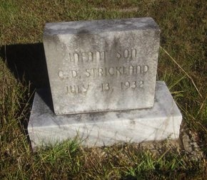 STRICKLAND, INFANT SON - St. Helena County, Louisiana | INFANT SON STRICKLAND - Louisiana Gravestone Photos