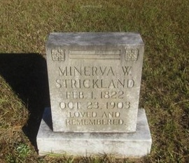 STRICKLAND, MINERVA SUSAN - St. Helena County, Louisiana | MINERVA SUSAN STRICKLAND - Louisiana Gravestone Photos