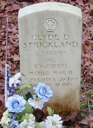 STRICKLAND, CLYDE D (VETERAN WWII) - St. Helena County, Louisiana | CLYDE D (VETERAN WWII) STRICKLAND - Louisiana Gravestone Photos