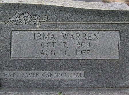 VARNADO, IRMA  (CLOSEUP) - St. Helena County, Louisiana | IRMA  (CLOSEUP) VARNADO - Louisiana Gravestone Photos
