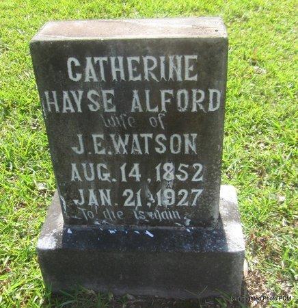 ALFORD WATSON, CATHERINE HAYSE - St. Helena County, Louisiana | CATHERINE HAYSE ALFORD WATSON - Louisiana Gravestone Photos