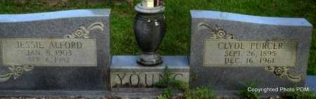YOUNG, CLYDE PURCER - St. Helena County, Louisiana | CLYDE PURCER YOUNG - Louisiana Gravestone Photos