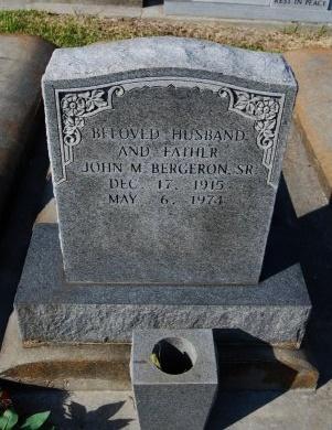 BERGERON, JOHN M - St. James County, Louisiana | JOHN M BERGERON - Louisiana Gravestone Photos