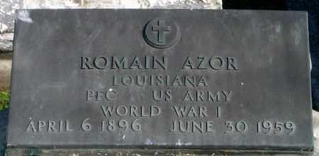 AZOR, ROMAIN (VETERAN WWI) - St. Martin County, Louisiana   ROMAIN (VETERAN WWI) AZOR - Louisiana Gravestone Photos