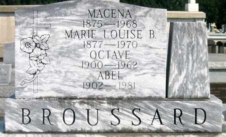 BROUSSARD, MACENA - St. Martin County, Louisiana | MACENA BROUSSARD - Louisiana Gravestone Photos