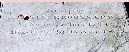 BROUSSARD, URSIN - St. Martin County, Louisiana   URSIN BROUSSARD - Louisiana Gravestone Photos