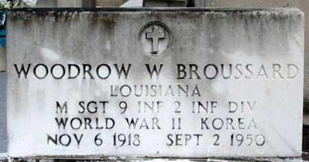 BROUSSARD, WOODROWW W (VETERAN 2 WARS, KIA) - St. Martin County, Louisiana | WOODROWW W (VETERAN 2 WARS, KIA) BROUSSARD - Louisiana Gravestone Photos
