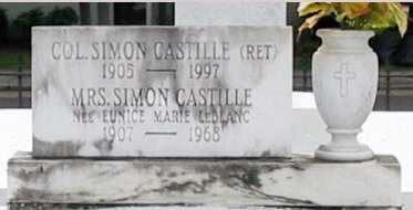 CASTILLE, SIMON, COL - St. Martin County, Louisiana | SIMON, COL CASTILLE - Louisiana Gravestone Photos