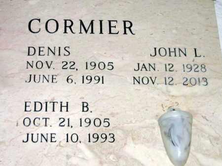 CORMIER, EDITH B - St. Martin County, Louisiana   EDITH B CORMIER - Louisiana Gravestone Photos