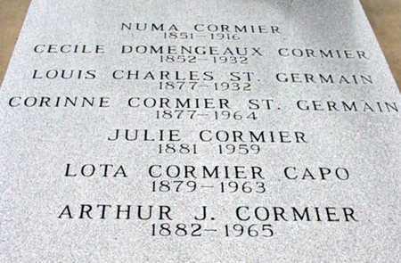 CORMIER, JULIE - St. Martin County, Louisiana | JULIE CORMIER - Louisiana Gravestone Photos