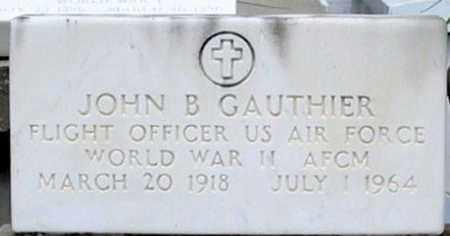 GAUTHIER, JOHN B (VETERAN WWII) - St. Martin County, Louisiana   JOHN B (VETERAN WWII) GAUTHIER - Louisiana Gravestone Photos