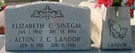 SINEGAL LANDOR, ELIZABETH C - St. Martin County, Louisiana | ELIZABETH C SINEGAL LANDOR - Louisiana Gravestone Photos