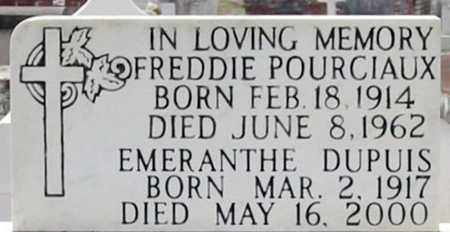 POURCIAUX, FREDDIE - St. Martin County, Louisiana | FREDDIE POURCIAUX - Louisiana Gravestone Photos