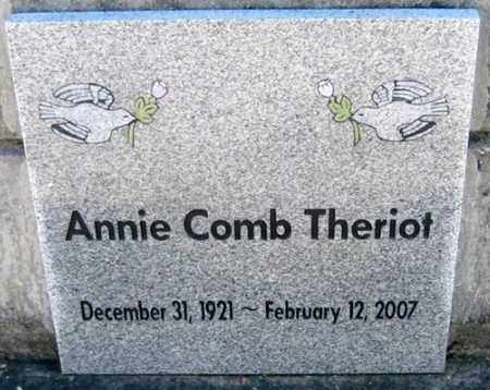 COMB THERIOT, ANNIE - St. Martin County, Louisiana | ANNIE COMB THERIOT - Louisiana Gravestone Photos